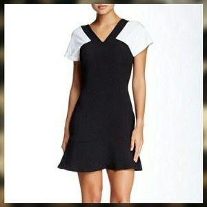SANDRO Paris Regal V-Neck Dress Sz 2